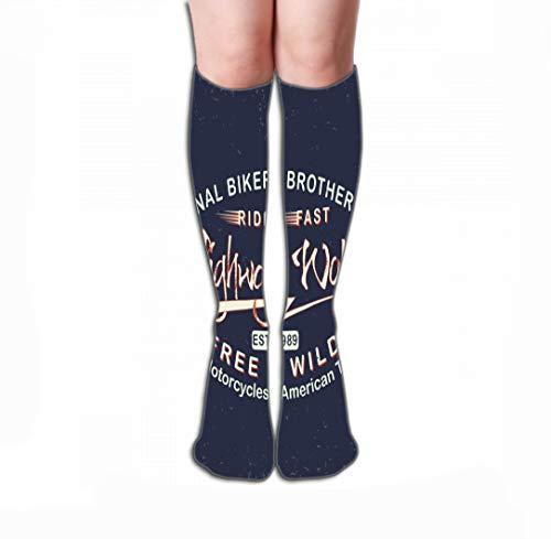 GHEDPO Hohe Socken Men's Women Girls Novelty Funny Crew Socks 19.7