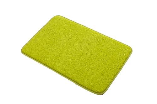 Spectrum - Scendibagno in memory foam, 40 x 60 cm, colore: Verde lime