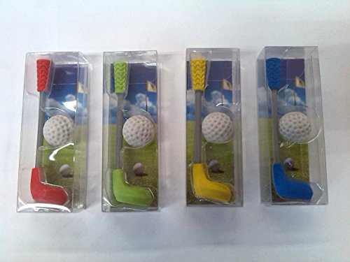 Trendhaus Collection Collectable Happy Rubber Golf Club and Ball with One of Four Different Designs