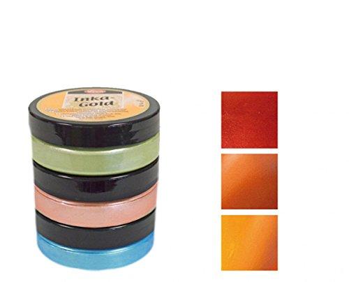 Inka Gold 3er Farbset (Orient) - Viva Decor Metallic Effektfarbe, Metallglanz Polierfarbe, Effekt Farbe Metall, Bastelfarfe, Dekofarbe