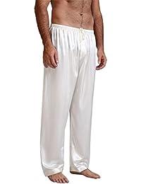 f855d6caed6 Mens Silk Satin Pajamas Pyjamas Pants Sleep Bottoms Free p p S~4XL  Plus Gifts