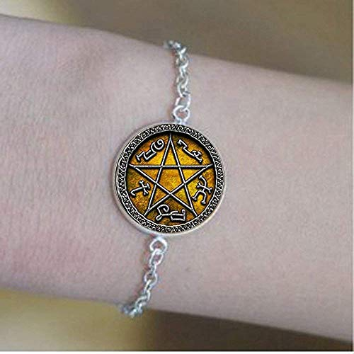 Devils Trap - Pulseras de pentagrama con diseño de atrapasueños