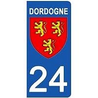 Nouvelle Aquitaine Paire Sticker immatriculation 87