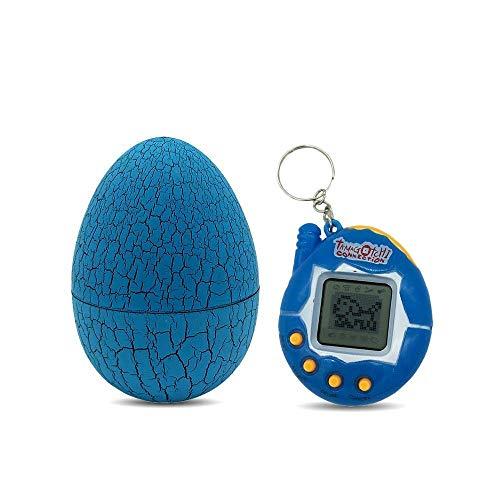 cweep electronic pets child toy key digital pets tumbler dinosaur egg virtual pets,child nostalgic tamagotchi tumbler dinosaur egg, mini pet funny digital pet game keyring electronic (blue)