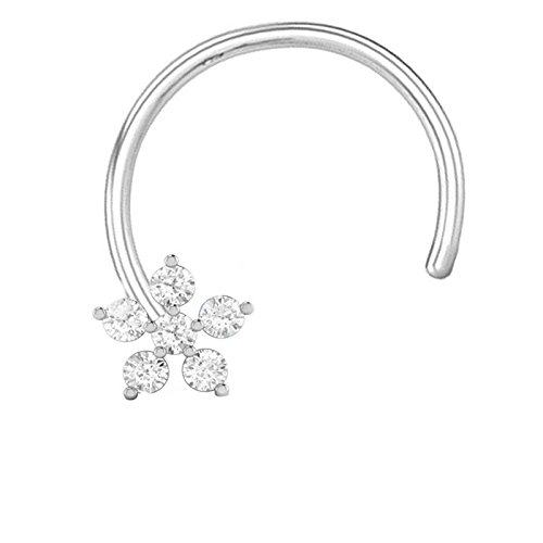 PeenZone 92.5 Silver Flower Design Nose Stud