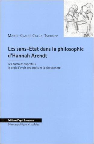 Les Sans-Etat dans la philosophie d'Hannah Arendt