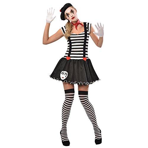 Mime Kostüm Schuhe - Frau Pantomime - Clown Pantomime Zirkus Kostüm Damen Amscan