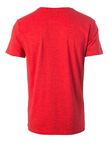 Rip Curl Herren Losange Logo Tee T-Shirt Ribbon Red Marl