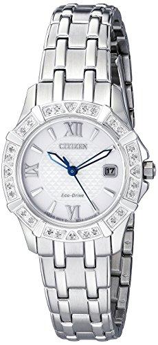 Citizen Diamond Reloj de mujer eco-drive 26mm correa de acero EW2360-51A
