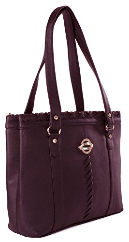 Big Handbag Shop - Borsa donna Red Deep