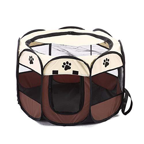 Nghvnm Faltbarer Entwurf Breathabe Haustiere Hunde Hauszelt Einfache Bedienung Achteckiger Zaun Haustiere Käfig Outdoor Haustiere Zubehör