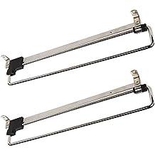 2 x SO-TECH® Appendiabiti Porta-grucce estraibile 300 mm Inserto per Armadio Gruccia Attaccapanni estraibili   Acciaio nichelato   4 misure   Lunghezze 250 – 500 mm
