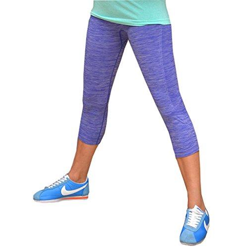 Qutool Sporthose / Leggings für Damen, geeignet für Fitnesstraining / Yoga / Laufen Medium blau