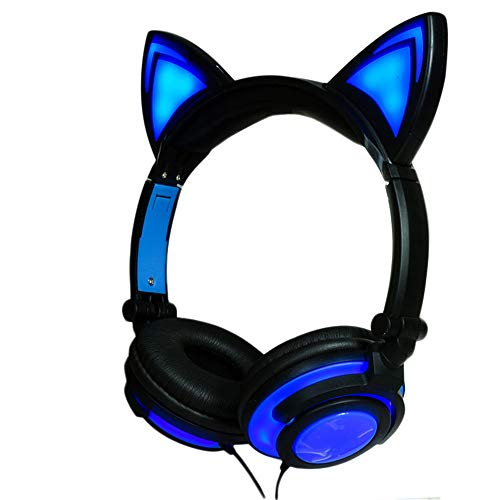 Sviper The Cat Ears, Mpow PC Headset, Multi-Use USB Headset & 3,5 mm Skype Headset Chat Headset VoIP Headset Inline Control für Mac PC Moblie Phone (integrierte Geräuschunterdrückung Sound Ca) F