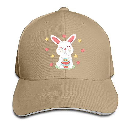 Unisex Sandwich Peaked Cap Cute Rabbit Funny Art Adjustable Cotton Baseball Caps (Lion Vs Rabbit)
