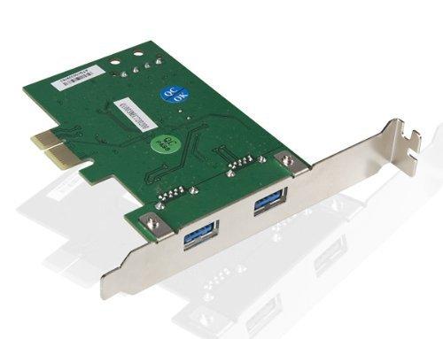 Poppstar USB 3.0 PCI-Express Karte (2x USB 3.0, 5Gbps) PCIe 2 Port Anschlüsse USB-Controller