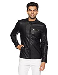 United Colors of Benetton Mens Cotton Jacket (17A2FSIC2025I_Black_XL)