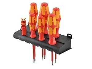 Wera XMS Barrette VDE Soft Grip-Jeu de tournevis - 6 Pieve 2 Crampons à vis