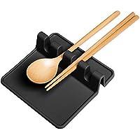 Aolvo - Soporte de silicona para utensilios de cocina, cuchara y palillos (gris)