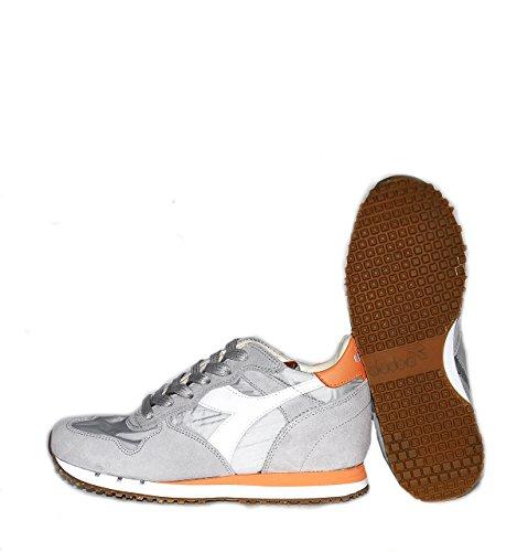 Calzature Donna DIADORA trident sneaker bassa con riporti in pelle scamosciata, tomaia in canvas, due lacci colorati Grigio scuro