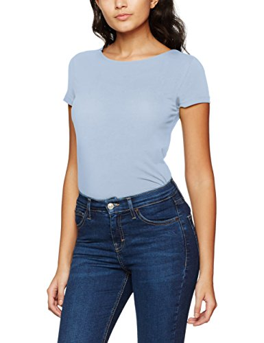 Only Onllive Love SS Lace Up Top Noos, T-Shirt Donna Blu (Cashmere Blue)