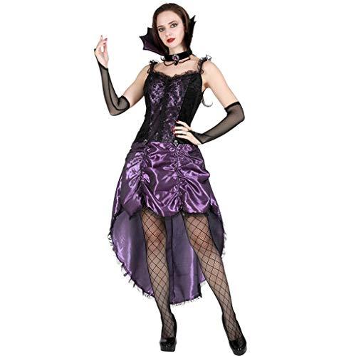 Cosplay Halloween Kostüm Masquerade Horror Erwachsene Hexe Kostüm Witcher Anzug Hexe-Kostüm (Color : (Masquerade Kostüm Plus Größe)