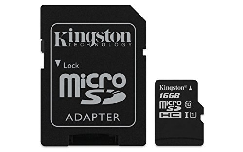 Kingston 16GB Micro SD Class 10 Memory Card with adapter