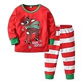 Mermaid Unicorn Pajamas Pigiama Ragazzi Bambino Natale Inverno Abbigliamento Set Due Pezzi Camicia da Notte Ragazza Indumenti da Notte Homewear (D, 90cm)