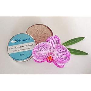 Gesichtsmaske Hibiskus – bei trockener bis empfindlicher Haut, vegan, ohne Palmöl und Konservierungsstoffe, Gesichtsmaske aus natürlichen Heilerden von kleine Auszeit Manufaktur
