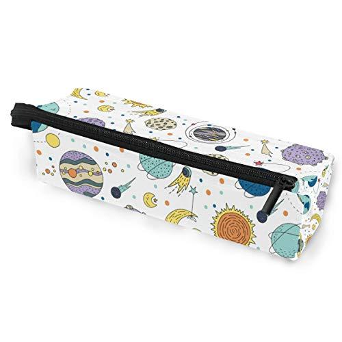Bleistiftbeutel fall sonnenbrille lustige cartoon planeten kosmetik studenten schreibwaren tasche reißverschluss für mädchen jungen