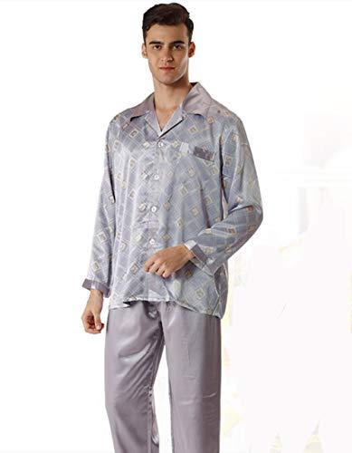 Hxp Pyjamas Männer Langarm-Hosen Mode Zweiteilige Freizeitkleidung,M -