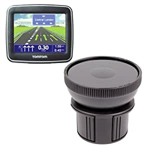 Fixation support porte-gobelet voiture DURAGADGET pour GPS TomTom XL Classic France, TomTom Start 60 M & 25 M, Via LIVE 120, Urban Rider