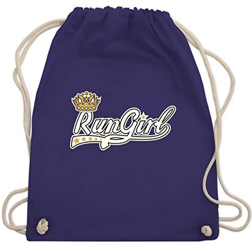 Laufsport - Run Girl - Unisize - Lila - WM110 - Turnbeutel & Gym Bag (Marathon Kordelzug)