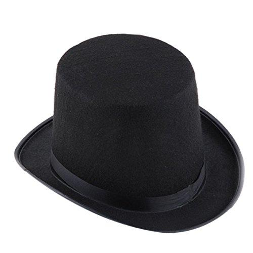 Cappello cilindro tuba in feltro per carnevale travestimento halloween