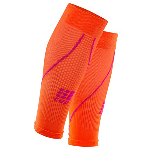 CEP - CALF SLEEVE 2.0 | Beinstulpen für Damen in orange / pink | Größe II | Beinlinge für exakte Wadenkompression