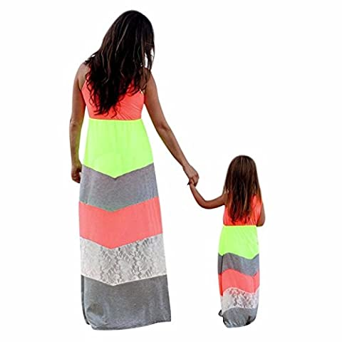 Minetom Plage Mommy And Me Gamins Jupe Robe Mère Et