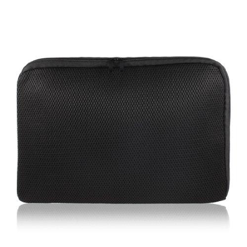 "Custodia borsa porta computer laptop 15"" 15.4"" 15.6"" nera a rete per HP Pavilion"