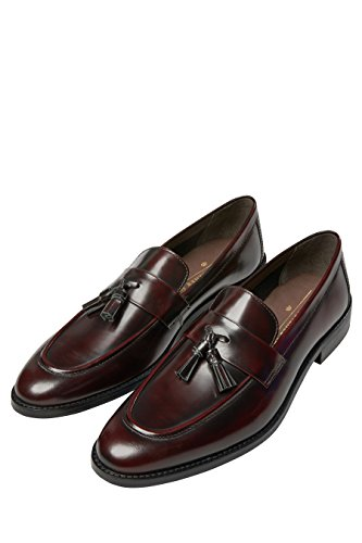 Next uomo mocassini lucidi con nappine bordeaux eu 40