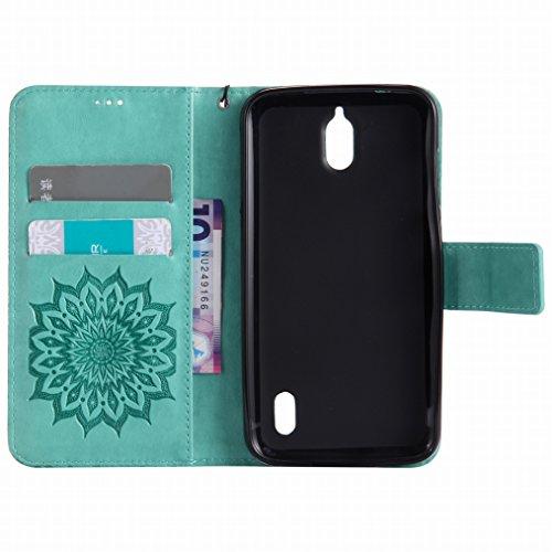 Morbido Portafoglio Cover per Bumper Huawei Cuoio Custodia TPU Protettivo Flip Borsa Verde Huawei Sottile Y625 Y625 LEMORRY Pelle Nero Fiorire Custodia Magnetico Silicone YxSTn7qSZw