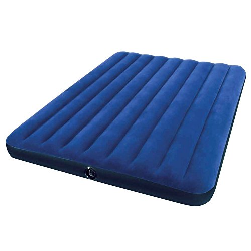 Intex Classic Downy Bed-Colchón Hinchable, PVC, Azul Marino, 150 x 200 cm