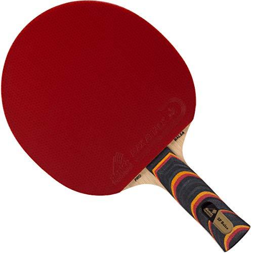 Donier Profi Tischtennisschläger SP-Balsa PRO | Ping Pong Schläger Hergestellt in der EU | 5- Schicht Holz, Leicht, Hohe Schnelligkeit | Kraftvolle Angriffe, Intelligente Kontrolle (Anatomisch)