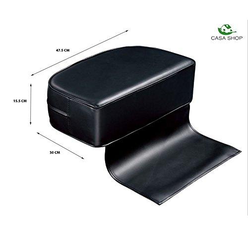 asiento elevador para ni/ños Negro B Coj/ín para silla de peluquer/ía sillas altas Beauty Salon Spa Equipment piel negra asiento auxiliar de aumento para beb/é y ni/ños