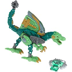 Transformers Year 2005 Cybertron Series Jungle Planet Scout Class 4-1/2 Inch Tall Robot Action Figure - Decepticon UNDERMINE with Snap Out Ramming Blade and Tail that Becomes Battle Mace (Beast Mode : Velociraptor Dinosaur) by Transformers