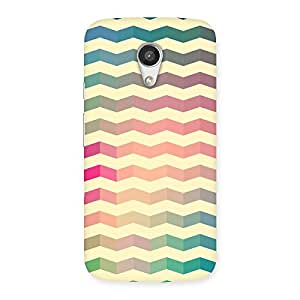 Cute Seamless ZigZag Multicolor Back Case Cover for Moto G 2nd Gen