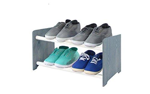 Schuhregal Schuhschrank Schuhe Schuhständer RBS-2-45 (Seiten dunkelgrau, Stangen in der Farbe...