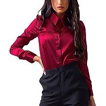 44c45bcb5 SHOBDW Mujeres Carniva Moda botón Camisa Blusa Casual Tops Manga Larga