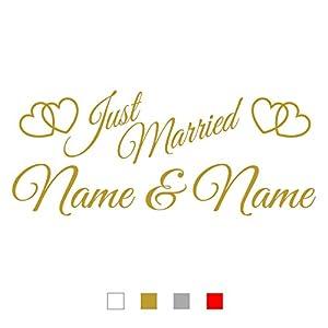 Aufkleber Hochzeit Namen Deine Auto Teile De