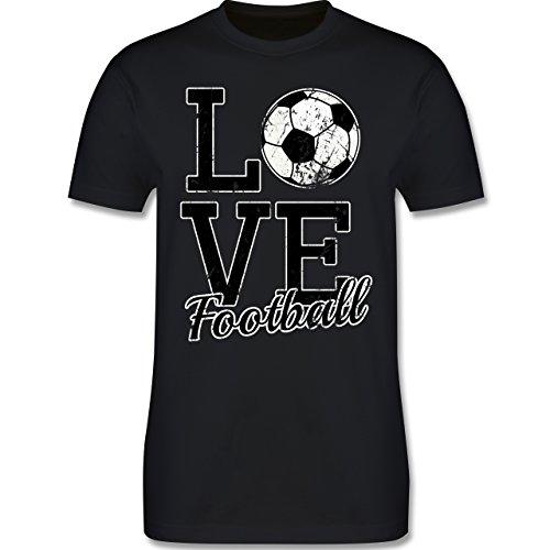 Fußball - Love Football - Herren Premium T-Shirt Schwarz