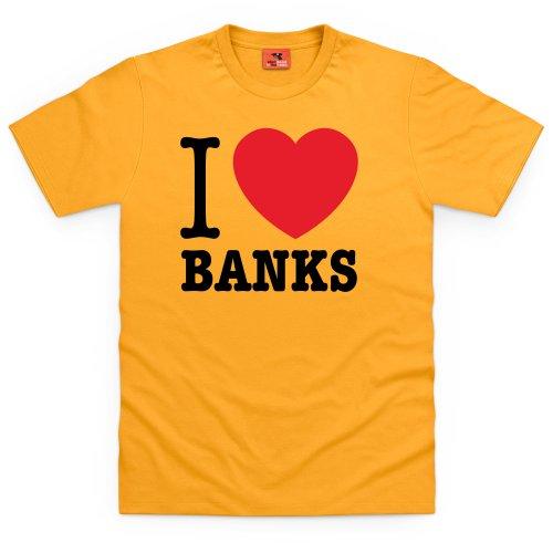 Square Mile I Heart Banks T-shirts, Uomo Giallo