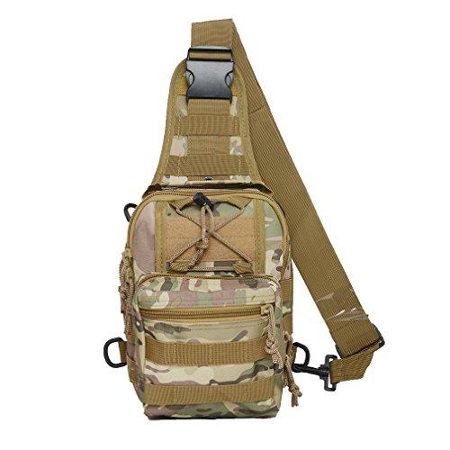 Imagen de táctica bandolera cruz cuerpo pecho paquete de hombro  militar edc molle paquetes de pesca con mosca para ipad nailon al aire libre camping senderismo  de viaje de senderismo, cp